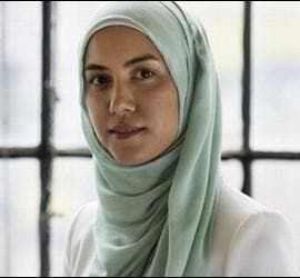 Una mujer musulmana con el velo.