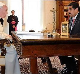 Francisco está preocupado por la situación que vive Venezuela