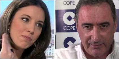Irene Montero (PODEMOS) y Carlos Herrera (COPE).