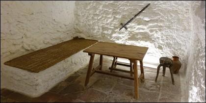 Casa de Medrano. Recreación de la celda de Miguel.