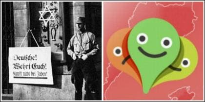 Comercio con la estrella de David en la Alemania nazi y la app de la Plataforma per la Llengua.