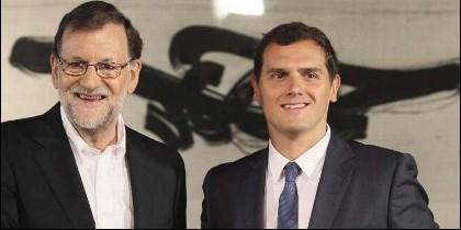 Mariano Rajoy (PP) con Albert Rivera (CIUDADANOS).