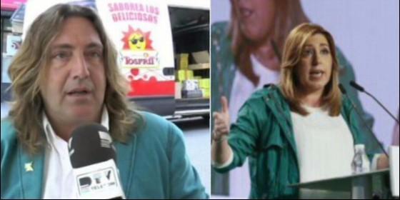 Pepe 'El Marismeño' y Susana Díaz.