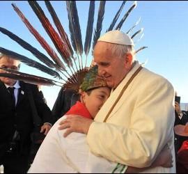 Francisco pidió perdón por 'los pecados de la Iglesia' durante la colonización de América