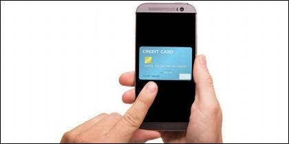 Tarjeta de crédito en el móvil