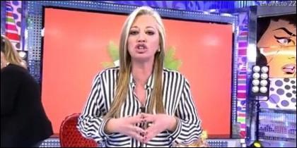 Belén Esteban en 'Sálvame Deluxe' de Telecinco.