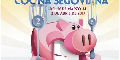 Cartel anunciador de las Jornadas de la Cocina Segoviana