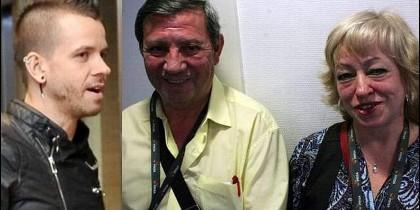 David Muñoz y sus padres