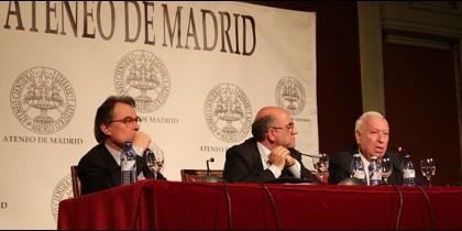 Margallo y Mas en el Ateneo de Madrid.