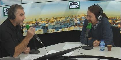 Carlos Alsina y Pablo Iglesias.