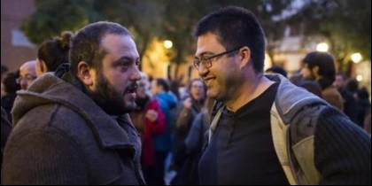 Carlos Sánchez Mato (d) junto al concejal Guillermo Zapata.