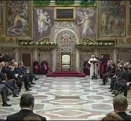 Francisco y los líderes de la UE, en la Sala Regia