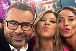 Jorge Javier Vázquez, Terelu Campos y María Patiño en 'Sálvame Deluxe' de Telecinco.