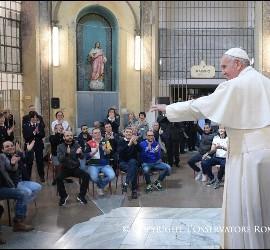 El Papa, con los presos