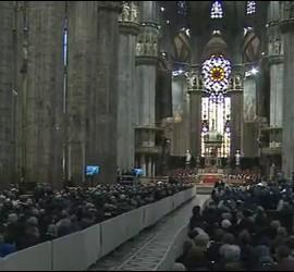 El interior de la catedral de Milán