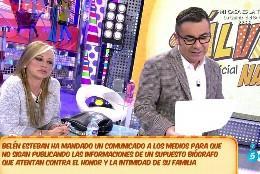 Belén Esteban y Jorge Javier Vázquez en 'Sálvame Deluxe' de Telecinco.