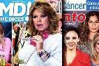 Terelu Campos en las portadas de las revistas del corazón.