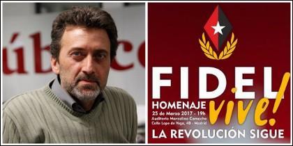 Mauricio Valiente y el homenaje a Fidel Castro.