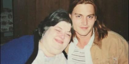 Darlene Cates con Johnny depp