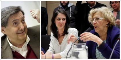 Jiménez Losantos, Rita Maestre y Manuela Carmena.