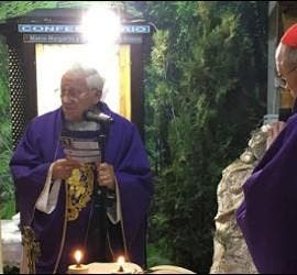 El padre Ángel, y el cardenal Osoro