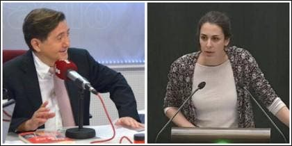 Federico Jiménez Losantos y Rita Maestre.