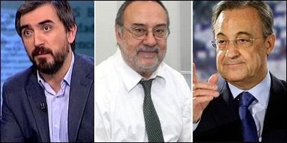Ignacio Escolar, Alfredo Relaño y Florentino Pérez.