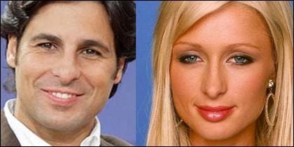 Fran Rivera y Paris Hilton.