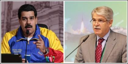 Nicolás Maduro y Alfonso Dastis.