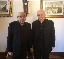 Antonio Cartagena, con Fernando Vergéz