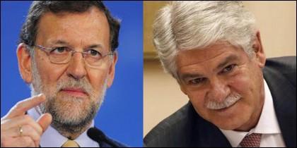 Mariano Rajoy y el ministro Dastis.