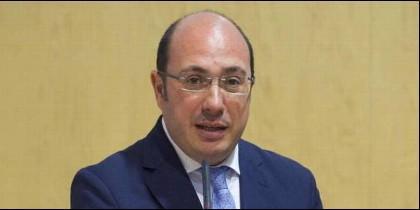 El ya expresidente de Murcia y todavñia presidente del PP regional, Pedro Antonio Sánchez.