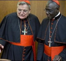 Cardenales Burke y Sarah