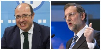 Pedro Antonio Sánchez y Mariano Rajoy.