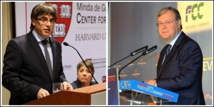 Carles Puigdemont y Antonio Silván.