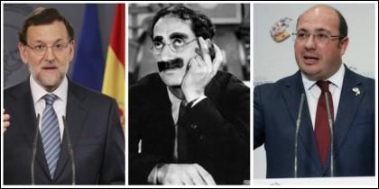 Mariano Rajoy, Groucho Marx y Pedro Antonio Sánchez.
