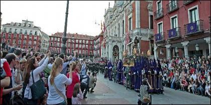 Imagen de una de las procesiones en la Capital Vallisoletana
