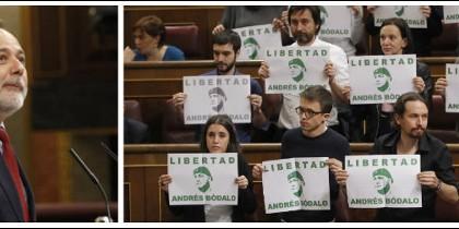 José Andrés Torres Mora y los diputados podemitas, dos formas de hacer oposición.