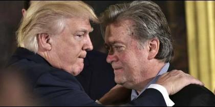Trump y Steve Bannon
