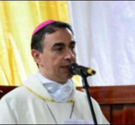 Ettore Balestrero, en la misa por las víctimas de la avalancha de Mocoa