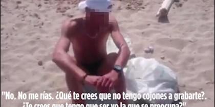 El hombre masturbándose en una playa de Mallorca