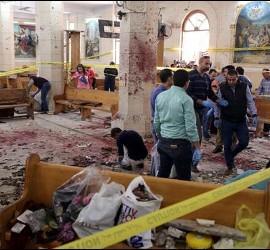 Atentado contra una iglesia copta en Egipto.