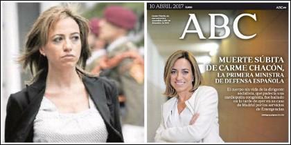 Carme Chacón y la portada de ABC 10 abril 2017.