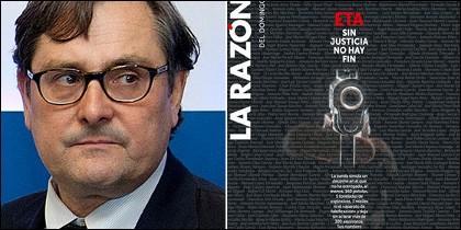 Francisco Marhuenda y la portada de La Razón.