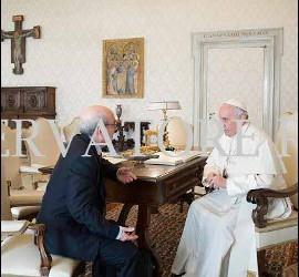 El Papa, con Emili Turú