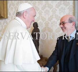 El Papa Francisco, con Emili Turú