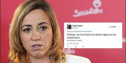 Carme Chacón y el tuit miserable de Victor rubio.