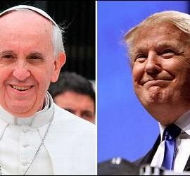 El Papa Francisco y Donald Trump