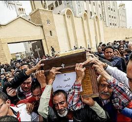 Funeral por las víctimas de los ataques en Egipto