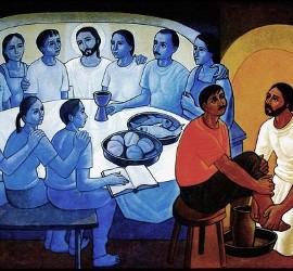 La última cena con los pobres